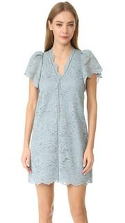 Кружевное платье с V-образным вырезом Rebecca Taylor