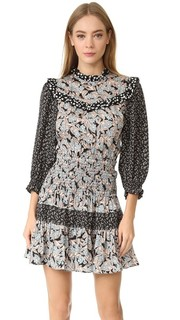 Платье с накладным Бижу Rebecca Taylor