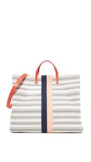 Простая объемная сумка с короткими ручками Clare V.