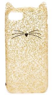7 Чехол для iPhone с блестками Cat Kate Spade New York