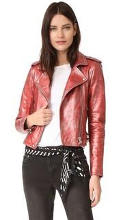 Байкерская куртка с металлизированной Аксель IRO