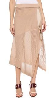 Рубчатая юбка с высокой талией Marques Almeida