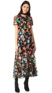 Платье из тюля с вышивкой Cynthia Rowley