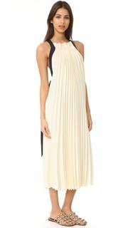 Без рукавов плиссированная макси-платье 3.1 Phillip Lim