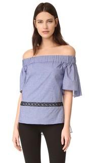 Со спущенными плечами многоуровневое Блуза с оборками Prabal Gurung