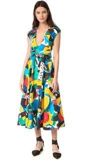Короткие рукава расклешенное платье Stella Jean
