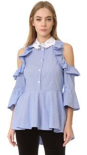 Блуза с оборчатыми рукавами Vivetta