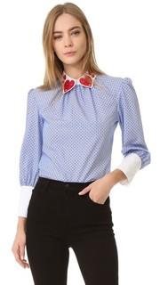 Блуза с длинным рукавом с воротником Heart Vivetta