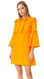 Платье с оборками и воротником Vivetta