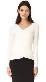 Двусторонний рубчатой перекрещивающиеся свитер Bailey44