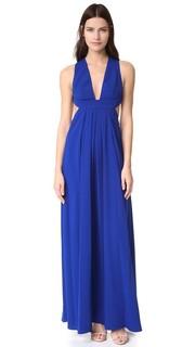 Вечернее платье с глубоким V-образным вырезом Jill Jill Stuart