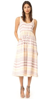 Платье на пуговицах спереди Миди Mara Hoffman