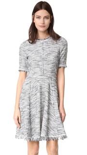 Твидовое платье с эффектом из выгоревшего букле Rebecca Taylor