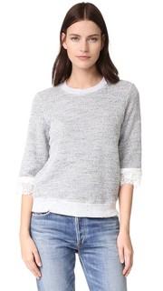 Текстурный пуловер с кружевными вставками Clu