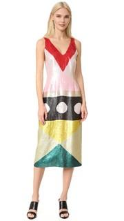 Коктейльное платье с блестками Novis