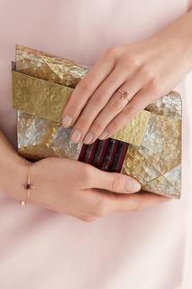 Позолоченное серебряное кольцо с турмалинами Moonka Studio