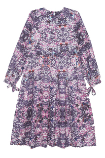 Платье из шелка и хлопка Les