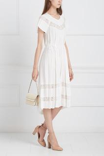Платье с кружевом Zimmermann