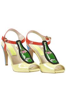 Босоножки на высоком каблуке LEO