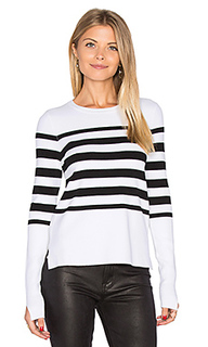 Hi lo stripe sweater - Autumn Cashmere