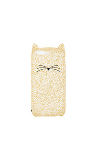 Чехол для iphone 7 glitter cat - kate spade new york
