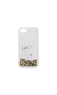 Чехол для iphone 7 liquid glitter viola - kate spade new york