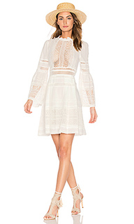 Baja lace long sleeve dress - Sea