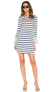 Stripe & eyelet dress - Sea