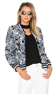 Куртка-бомбер с цветочным рисунком - BLANKNYC