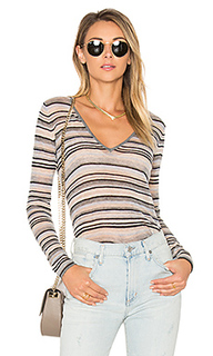 Multi stripe v neck tee - Autumn Cashmere