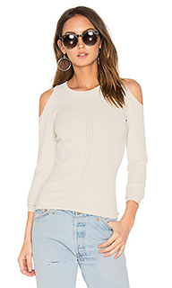 Pointelle cold shoulder sweater - Autumn Cashmere