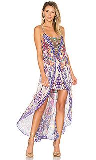 Mini dress with overlay - Camilla