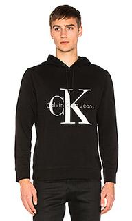 Худи с логотипом длинный рукав - Calvin Klein