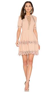 Crepe lace up back dress - NICHOLAS