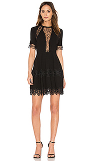 Lace insert mini dress - NICHOLAS