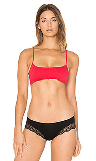 Organic cotton racer back bralette - Only Hearts