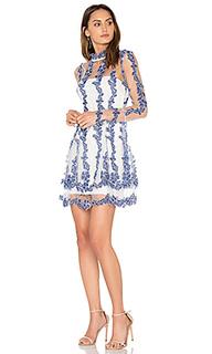 Платье с юбкой солнце orchid - NICHOLAS