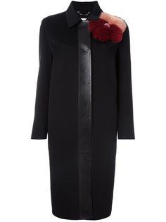пальто с меховой отделкой Fendi