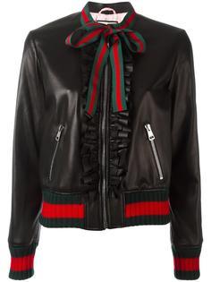 куртка-бомбер с рюшами Gucci