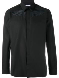 рубашка с вышивкой крыльев Givenchy