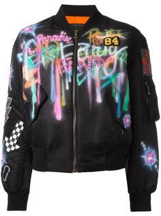 куртка бомбер с рисунком Marc Jacobs