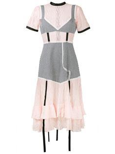 комбинированное платье с ремешками Sandy Liang