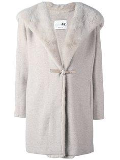 пальто  с оторочкой мехом норки Manzoni 24