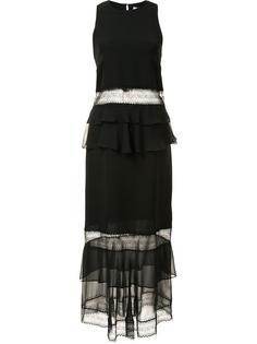 прозрачное платье с оборками Jonathan Simkhai
