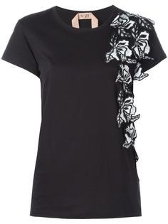 декорированная футболка с цветами Nº21