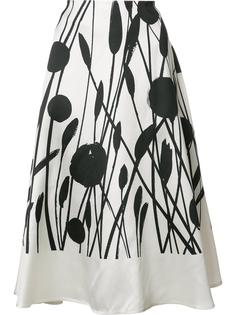 'Floral Circle' skirt Carolina Herrera