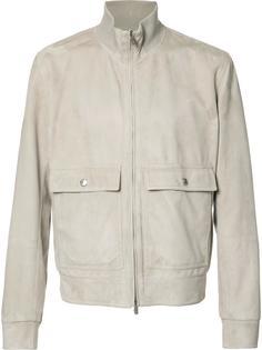 замшевая куртка на молнии Brunello Cucinelli