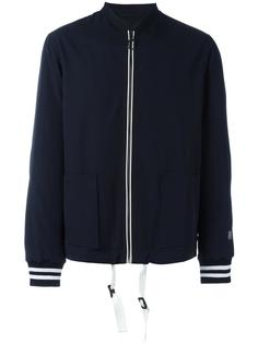 куртка-бомбер с полосатыми манжетами Lanvin