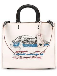 сумка с отделкой пайетками Coach