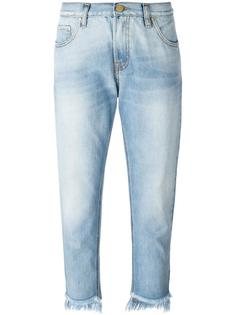 destroyed effect cropped jeans Don't Cry